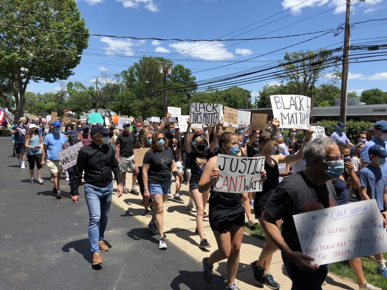 Marchers protest march black lives matter June 7 2020