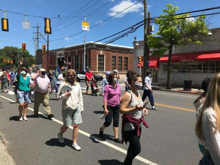 George Floyd protest march Darien May 31, 2020