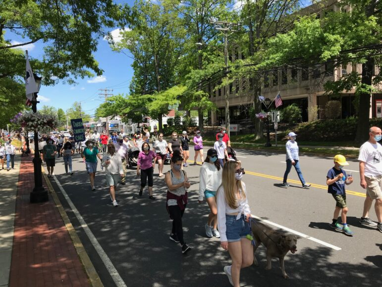 George Floyd protest march Darien May 31 2020
