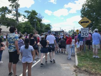 George Floyd protest march Darien May 31 2020 two