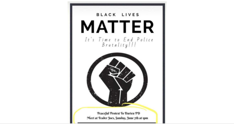 Black Lives Matter protest poster June 7 2020 march wide for Facebook