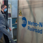 Metro-North train passenger mask on 2020