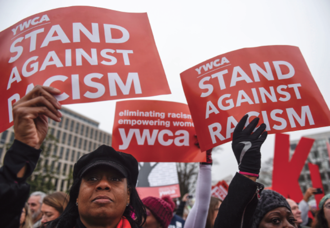 Stand Against Racism protest signs 2020