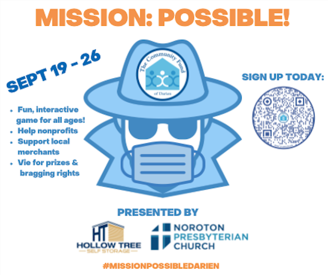Promotional image for Mission: Possible from the Community Fund of Darien