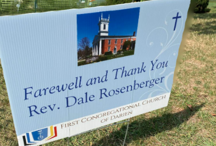 First Congregational Church of Darien Dale Roseberger good bye