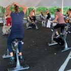JoyRide spin class outdoors