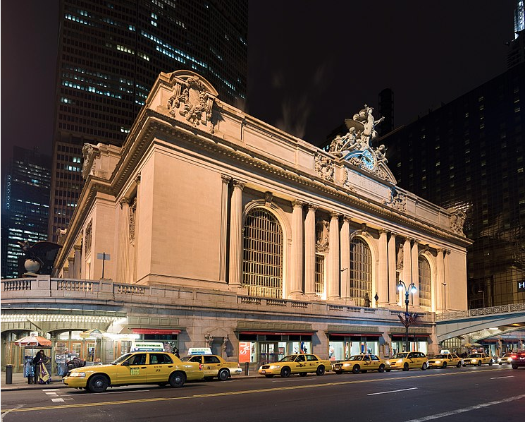 Grand Central Terminal night Metro-North