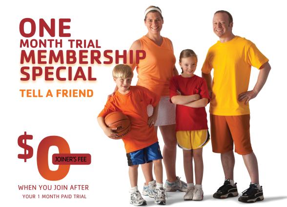 Darien YMCA one month trial membership