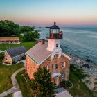 Sheffield Island Lighthouse aerial