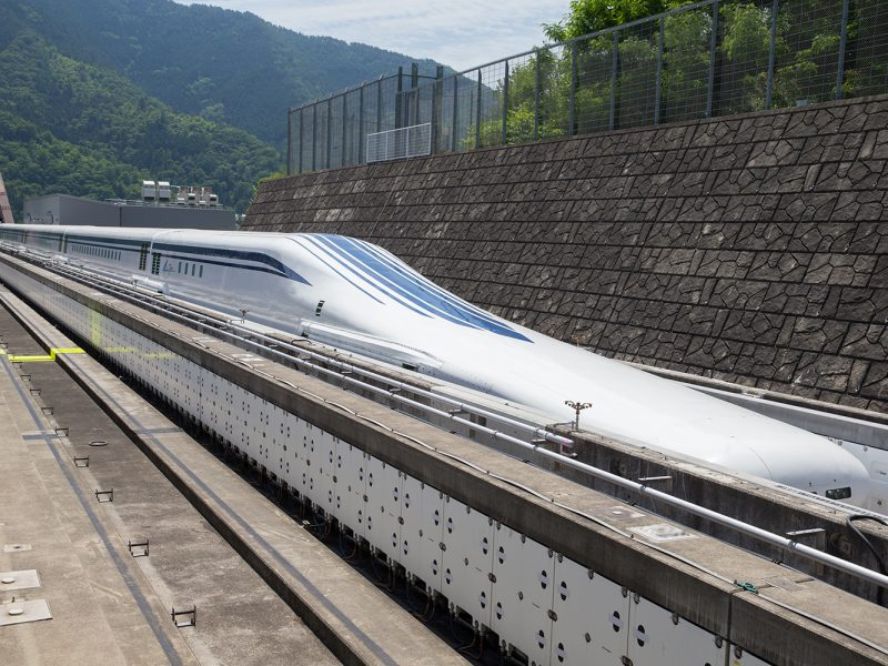 SCMAGLEV at Yamanashi Maglev Line Facility in Japan