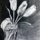 Charcoal drawing by Nancy McTague