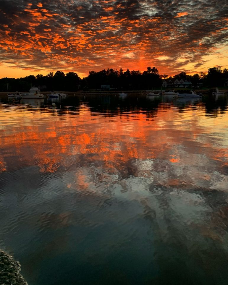 "PicDarien 2021 Land and Sea Adult Winner: ""Sunrise on the Point"" by David Gioiella, of Darien"