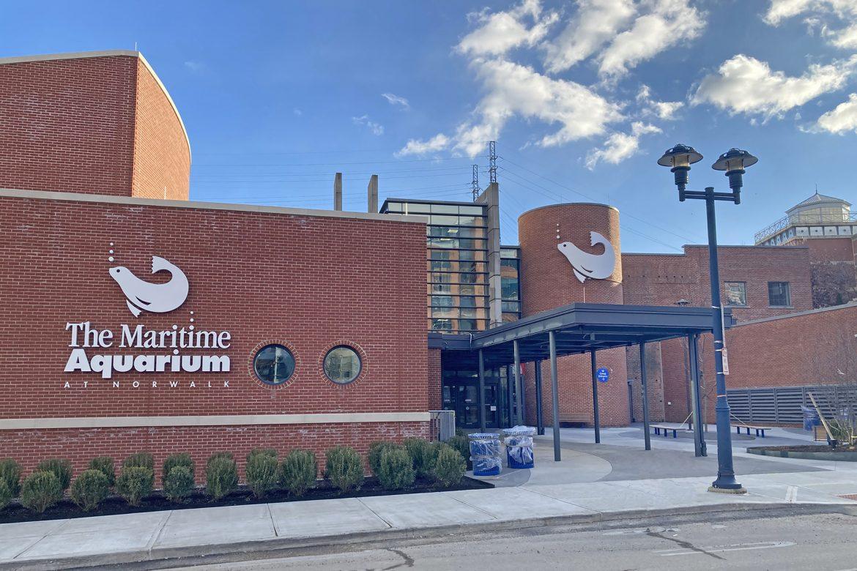 Maritime Aquarium main entrance