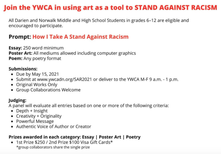 YWCA Stand Against Racism youth contest details