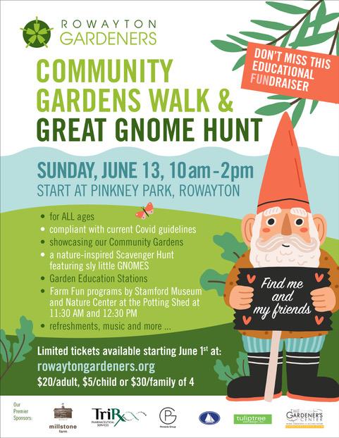 Rowayton Gardeners Club Community Gardens Walk & Great Gnome Hunt