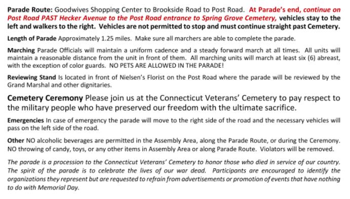 Mem Day Parade instructions part 2 2021