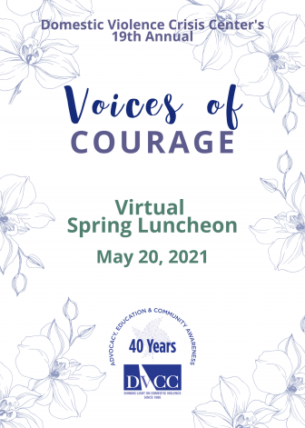 Voices of Courage poster 2021 DVCC