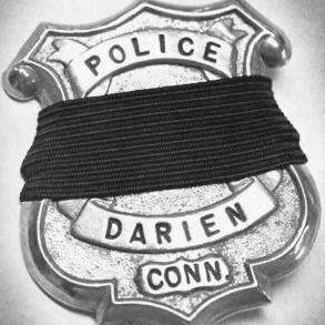 Darien P.D. badge mourning black