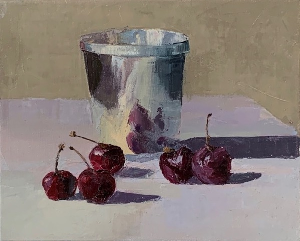 """Jarvis Wilcox, """"Cherries with Silver Cup,"""""""