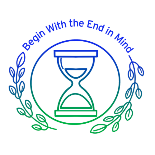 Logo Begin With the End In Mind Darien Library series Death