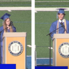 DHS Graduation speeches Eleanor Chase James Strong