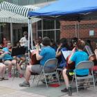 String Concert Darien Library courtyard 2021