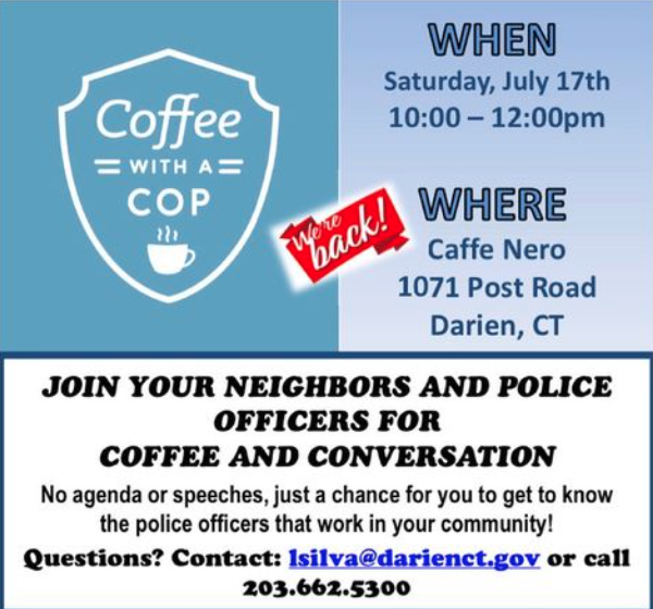 Coffee with a Cop poster 07-17-21