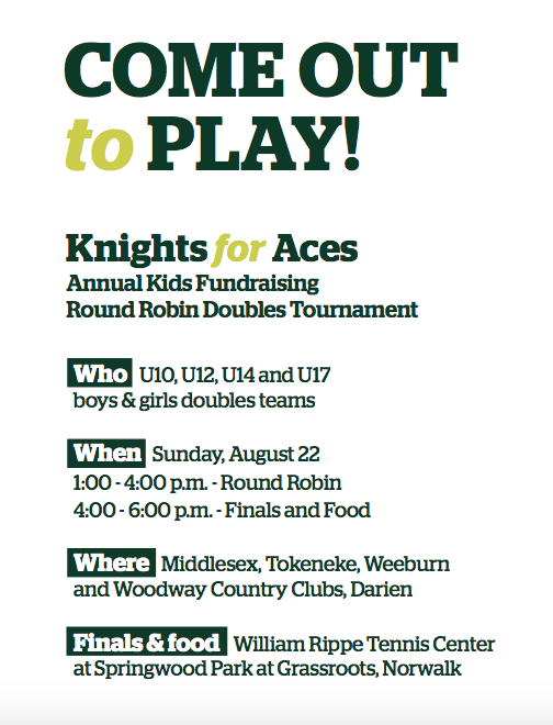 Poster 2 Knights for Aces Norwalk Grassroots 2021