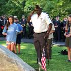 9/11 20th anniversary roses at memorial 2021