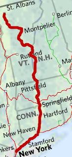Vermonter train route map
