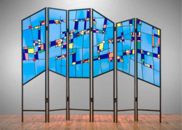 Ernest Porcell, Brooklyn, New York, glass screen Bruce Museum Arts Festival 2021