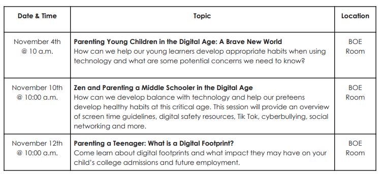 Tech parents schools online